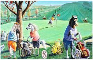 golf horse