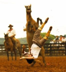 rider fall upsidedown
